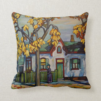 "Tribute to Lawren Harris 16"" X 16"" Cotton Pillow"