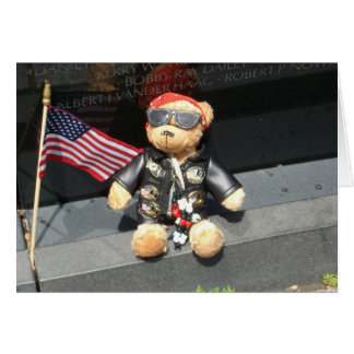 Tributes at the Vietnam Veterans Memorial Wall Card