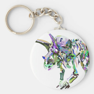 triceratops4 keychain