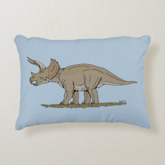 Triceratops Accent Pillow