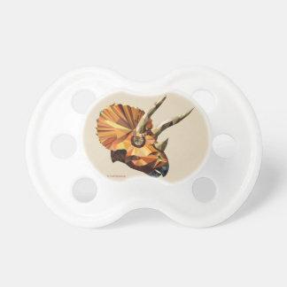 Triceratops - beige pacifier