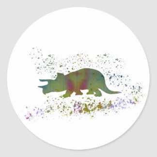 Triceratops Classic Round Sticker