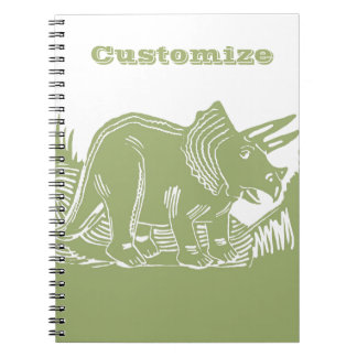 Triceratops Customizable Notebook