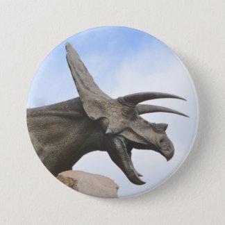 Triceratops Dinosaur 3 Inch Round Button