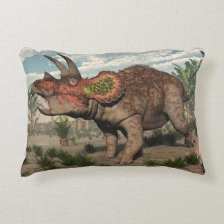 Triceratops dinosaur - 3D render Decorative Pillow