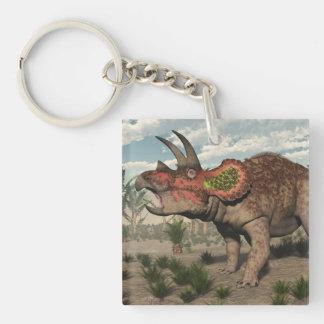 Triceratops dinosaur - 3D render Keychain