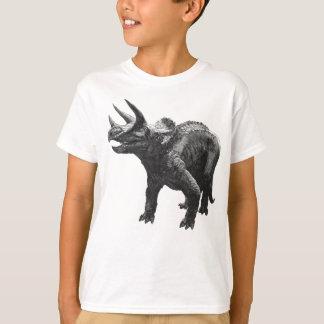 Triceratops Dinosaur Antique Print T-Shirt