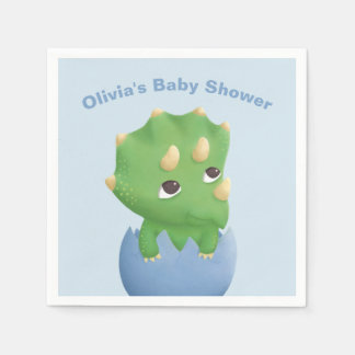 Triceratops Dinosaur Baby Shower Party Supplies Paper Napkin