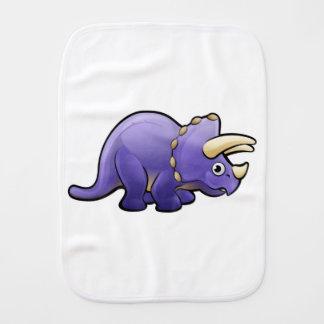 Triceratops Dinosaur Cartoon Character Burp Cloth