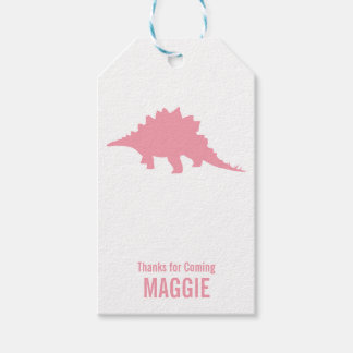 Triceratops Dinosaur Silhouette Birthday Gift Tag Pack Of Gift Tags