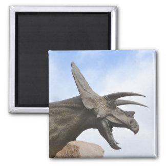 Triceratops Dinosaur Square Magnet
