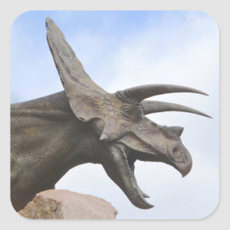Triceratops Dinosaur Square Sticker