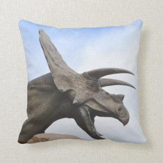 Triceratops Dinosaur Throw Pillow
