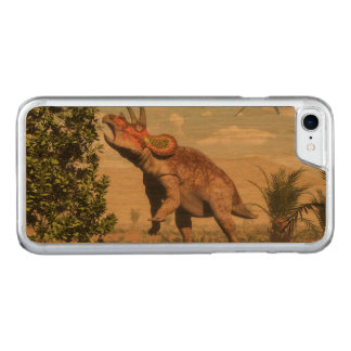 Triceratops eating at magnolia tree - 3D render Carved iPhone 7 Case