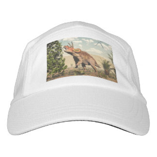 Triceratops eating at magnolia tree - 3D render Headsweats Hat