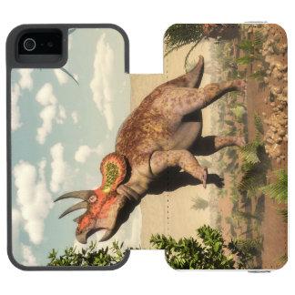 Triceratops eating at magnolia tree - 3D render Incipio Watson™ iPhone 5 Wallet Case