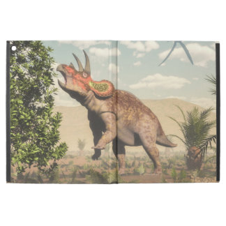 "Triceratops eating at magnolia tree - 3D render iPad Pro 12.9"" Case"