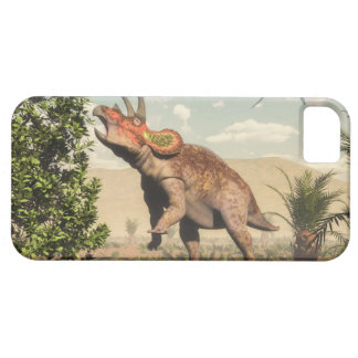 Triceratops eating at magnolia tree - 3D render iPhone 5 Covers