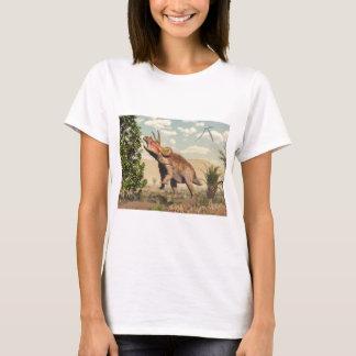 Triceratops eating at magnolia tree - 3D render T-Shirt