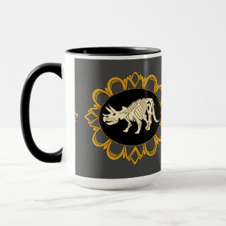 Triceratops Fossil Cameo Mug