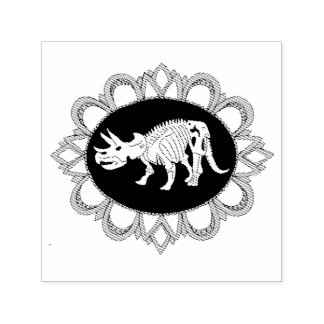Triceratops Fossile Cameo Self-inking Stamp