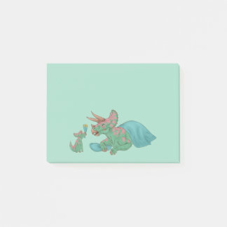 Triceratops Giving Flowers Post-it Notes