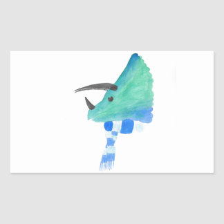 Triceratops In A Scarf