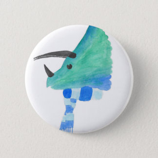 Triceratops In A Scarf 2 Inch Round Button