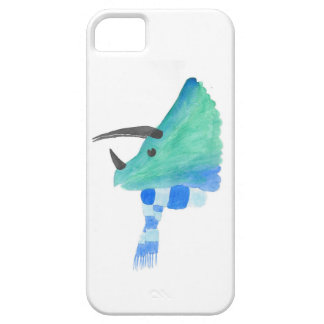Triceratops In A Scarf iPhone 5 Cover