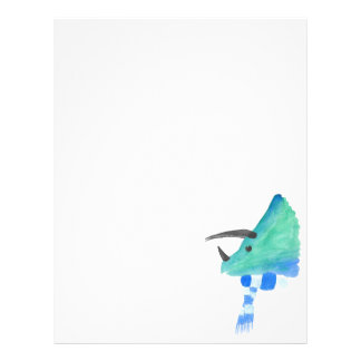 Triceratops In A Scarf Letterhead