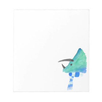 Triceratops In A Scarf Notepads