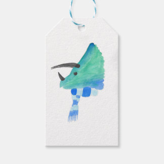 Triceratops In A Scarf Pack Of Gift Tags
