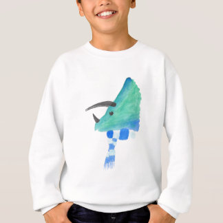 Triceratops In A Scarf Sweatshirt