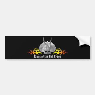 """Triceratops """"Kings of the Hell Creek"""" Bumper Sticker"""