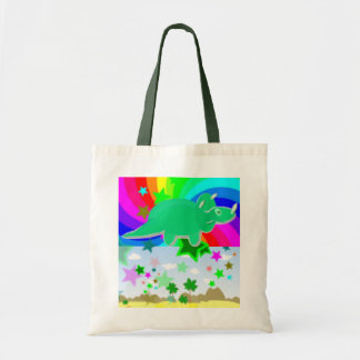 Triceratops Pixel Dinosaur Canvas Bag