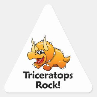 Triceratops Rock! Triangle Sticker