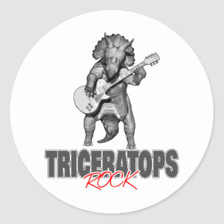 Triceratops Rocks Classic Round Sticker