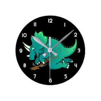 Triceratops Round Clock