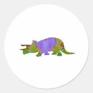 Triceratops Round Sticker