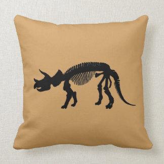 Triceratops skeleton throw pillow