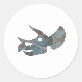 Triceratops Skull Classic Round Sticker