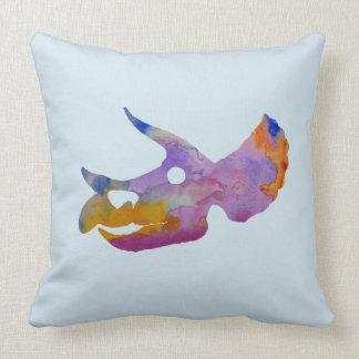 Triceratops Skull Throw Pillow
