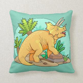 Triceratops Throw Pillow