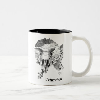 Triceratops vs. T. rex Two-Tone Coffee Mug