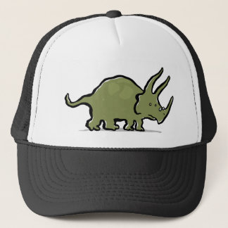 triceratops wearing glasses trucker hat