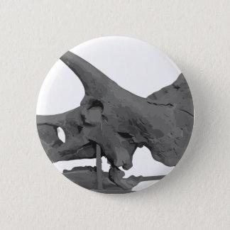 Triceratopsskull 2 Inch Round Button