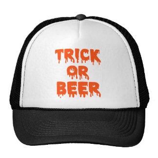 Trick or Beer Halloween Mesh Hat