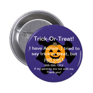 Trick or Treat Autism Button