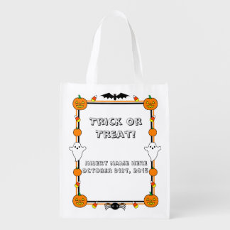 Trick or Treat Bag Reusable Grocery Bag