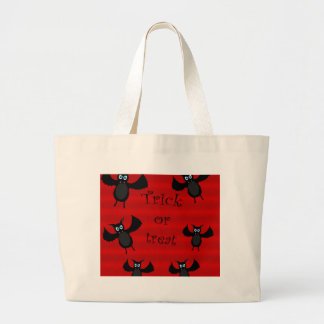 Trick or treat - bats large tote bag
